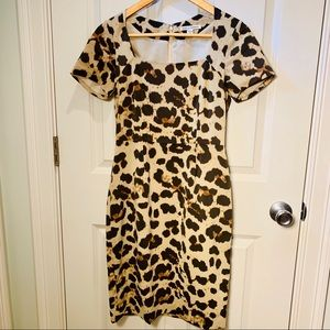 BANANA REPUBLIC Sophia Dress Animal Print EUC